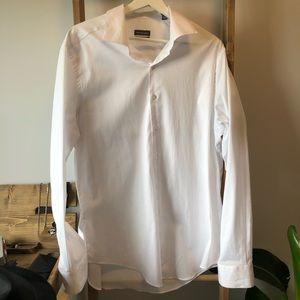 SALE VAN HEUSEN Men's White Shirt SZ 17 XL